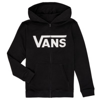Clothing Boy Sweaters Vans BY VANS CLASSIC ZIP HOODIE Black