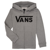 Clothing Boy Sweaters Vans BY VANS CLASSIC ZIP HOODIE Grey