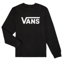 Clothing Boy Long sleeved tee-shirts Vans BY VANS CLASSIC LS Black