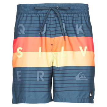 Clothing Men Trunks / Swim shorts Quiksilver WORD BLOCK VOLLEY Multicolour