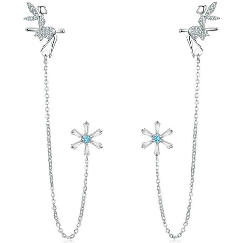 Watches Women Earrings Blue Pearls CRY C2334 J Multicolored