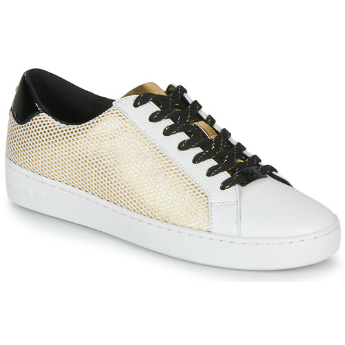 Shoes Women Low top trainers MICHAEL Michael Kors IRVING LACE UP White / Black / Gold