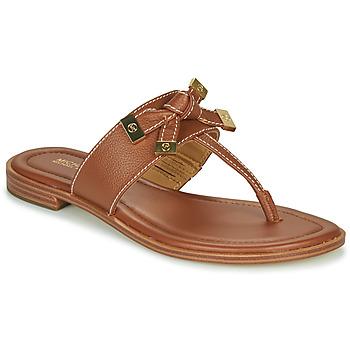 Shoes Women Flip flops MICHAEL Michael Kors RIPLEY THONG Cognac