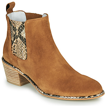 Shoes Women High boots Regard NINA V6 PESCA P CUOIO Brown