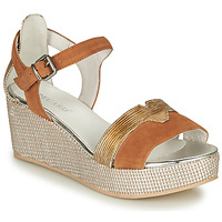Shoes Women Sandals Regard ENGHEIN V2 NUBUCK COGNAC Brown