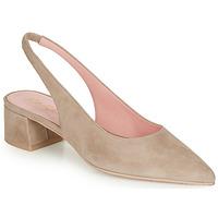 Shoes Women Heels Pretty Ballerinas ANGELIS SAFARI Beige