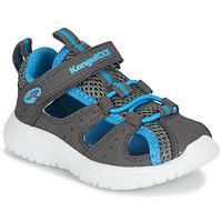 Shoes Boy Sandals Kangaroos KI-ROCK LITE EV Grey / Blue