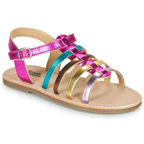 Shoes Girl Sandals Citrouille et Compagnie MAYANA Multicolour
