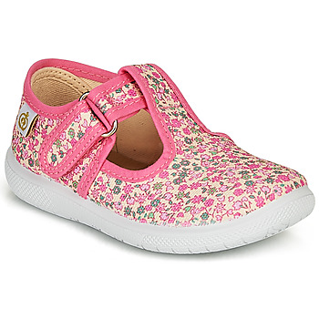 Shoes Girl Flat shoes Citrouille et Compagnie MATITO Pink / Multicolour
