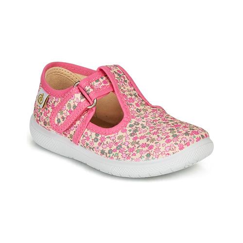 Shoes Girl Flat shoes Citrouille et Compagnie MATITO Pink / Multicolour