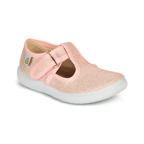 Shoes Girl Flat shoes Citrouille et Compagnie MATITO Pink / Metallic