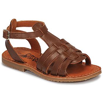 Shoes Girl Sandals Citrouille et Compagnie MINIBOU Brown