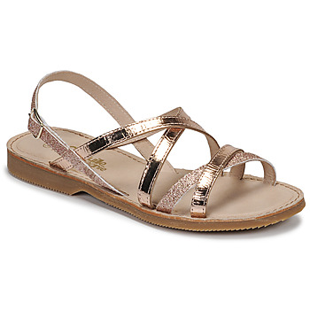 Shoes Girl Sandals Citrouille et Compagnie GENTOU Bronze / Glitter