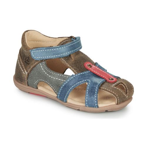 Shoes Boy Sandals Citrouille et Compagnie MARIOL Grey / Blue