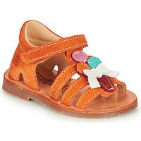 Shoes Girl Sandals Citrouille et Compagnie MIETTE Orange