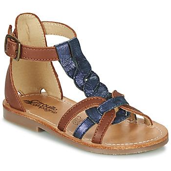 Shoes Girl Sandals Citrouille et Compagnie GITANOLO Marine / Camel