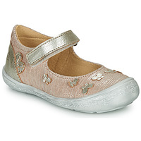 Shoes Girl Flat shoes Citrouille et Compagnie JALIPINE Beige / Glitter