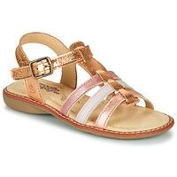 Shoes Girl Sandals Citrouille et Compagnie GROUFLA Gold / Colours                                     / Pink