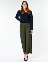 Clothing Women Wide leg / Harem trousers Moony Mood  Kaki