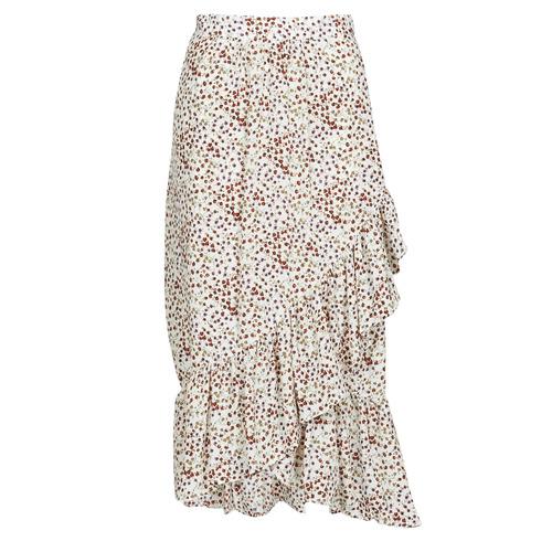 Clothing Women Skirts Betty London MADILOU White / Red