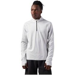 Clothing Men Sweaters Reebok Sport Reflective Speedwick Quarter Zip White