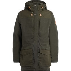 Clothing coats Fjallraven Parka Singi Wool green with wool padding Green