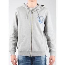 Clothing Men Fleeces Wrangler Hoodie Zip Sweat W6497JE37 grey