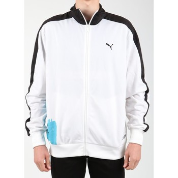 Clothing Men Fleeces Puma Scribble T7 556947-01 white, blue