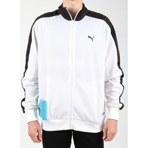 Clothing Men Fleeces Puma Scribble T7 556947-01 white, blue