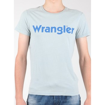 Clothing Men short-sleeved t-shirts Wrangler S/S Graphic Tee W7A64DM3E grey