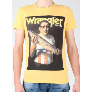 Clothing Men short-sleeved t-shirts Wrangler T-shirt  S/S Graphic T W7931EFNG yellow