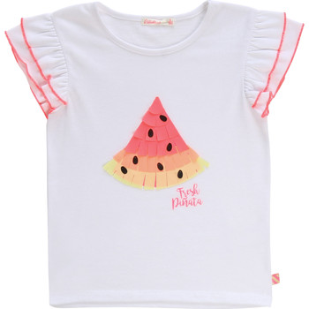 Clothing Girl Short-sleeved t-shirts Billieblush / Billybandit NARI White