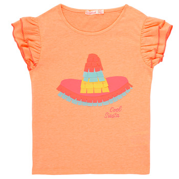 Clothing Girl short-sleeved t-shirts Billieblush / Billybandit NORE Orange