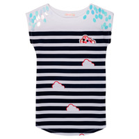 Clothing Girl Short Dresses Billieblush / Billybandit NATIA Blue