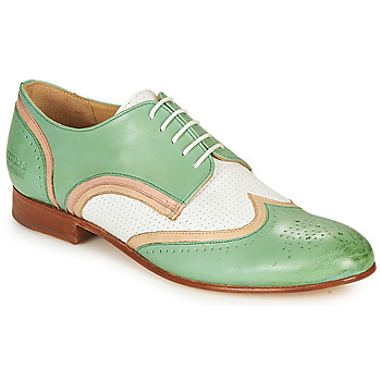Shoes Women Derby Shoes Melvin & Hamilton SALLY 15 Green / White / Beige