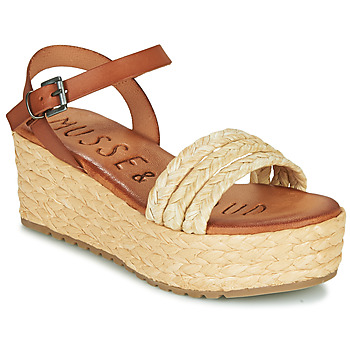 Shoes Women Sandals Musse & Cloud CONSTAN Cognac / Beige