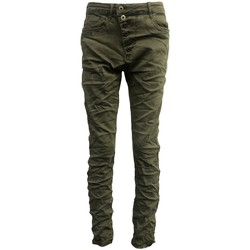 Clothing Women Slim jeans By La Vitrine Jeans kaki B3021-VB Green