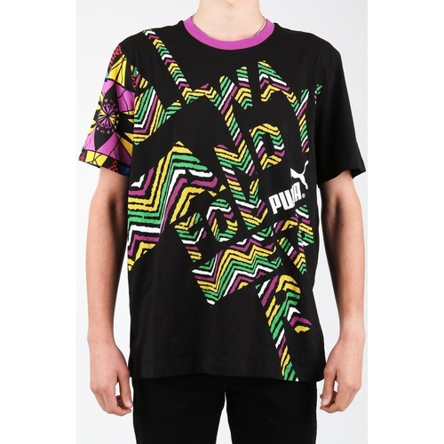 Clothing Men Short-sleeved t-shirts Puma Text Me Tee 554738-01 Multicolor