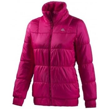 Clothing Women Duffel coats adidas Originals J P LT Jacket Burgundy