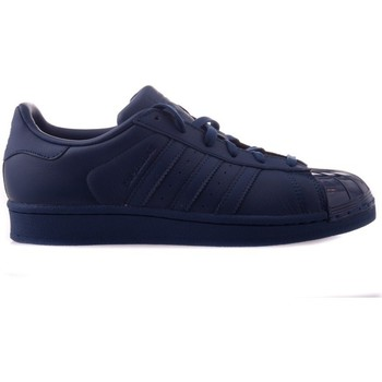 Shoes Women Low top trainers adidas Originals Superstar Glossy Toe Navy blue