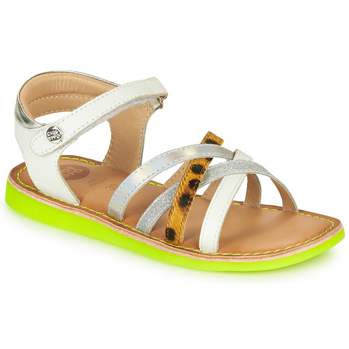 Shoes Girl Sandals Gioseppo STAGGIA White / Yellow