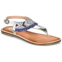 Shoes Girl Sandals Gioseppo BERMUDAS Blue / White