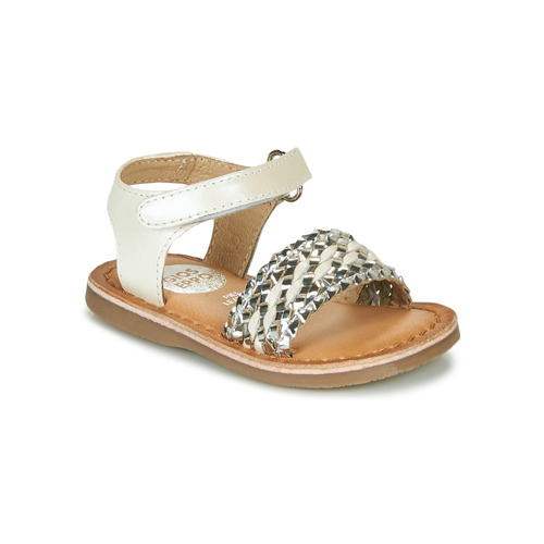Shoes Girl Sandals Gioseppo VARESE White / Silver