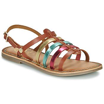 Shoes Girl Sandals Gioseppo ETALLE Cognac / Multicoloured