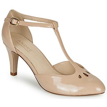 Shoes Women Heels André FALBALETTE Nude