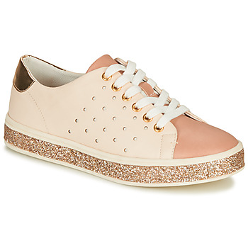 Shoes Women Low top trainers André PENNY Pink