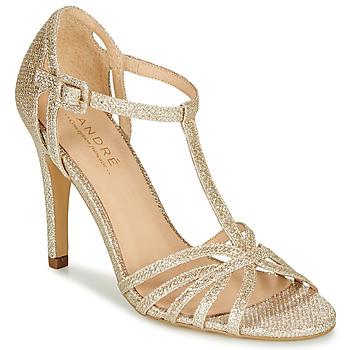 Shoes Women Heels André JOY Gold