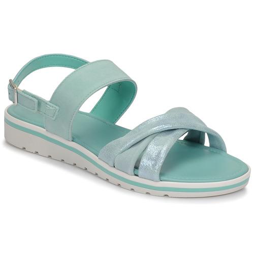 Shoes Women Sandals André POLINE Blue