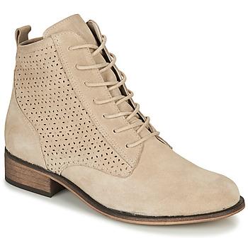 Shoes Women Mid boots André GODILLINE Beige
