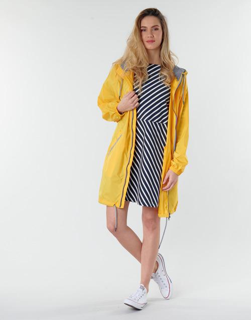 Clothing Women Parkas Petit Bateau SHINE Yellow